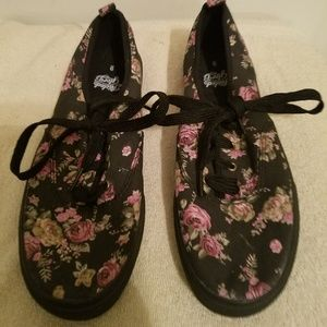 Floral faded glory sneakers